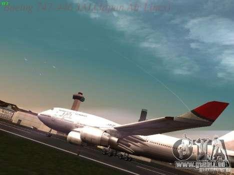 Boeing 747-446 Japan-Airlines pour GTA San Andreas laissé vue