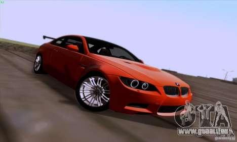 BMW M3 E92 v1.0 pour GTA San Andreas vue de dessus