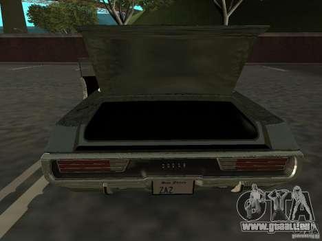Dodge Polara Police 1971 für GTA San Andreas rechten Ansicht
