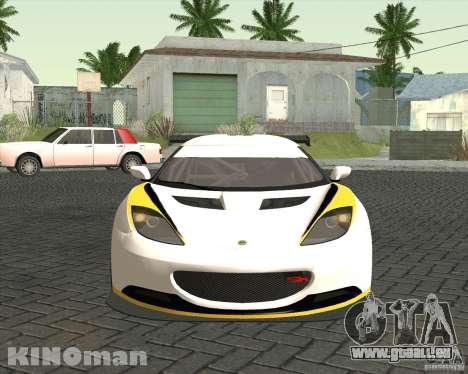 Lotus Evora Type 124 pour GTA San Andreas vue de droite
