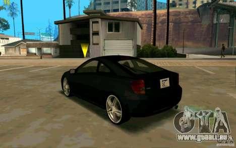 Toyota Celica 2005 für GTA San Andreas zurück linke Ansicht