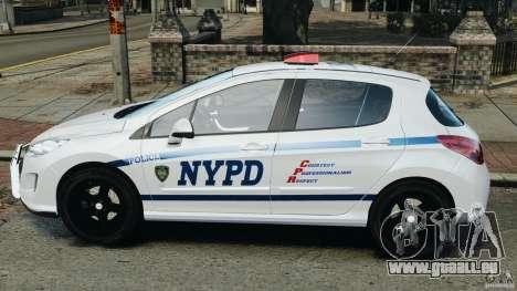 Peugeot 308 GTi 2011 Police v1.1 für GTA 4 linke Ansicht