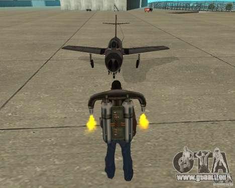 MIG 15 URSS pour GTA San Andreas vue arrière