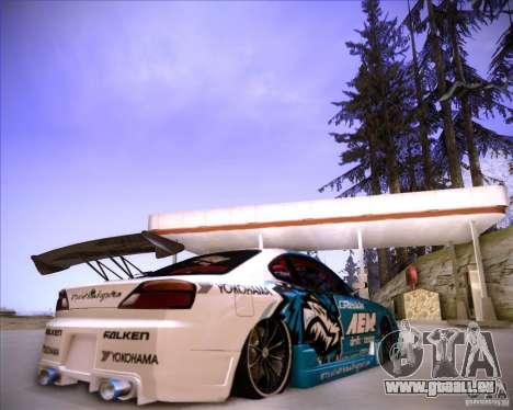 Nissan Silvia S15 Blue Tiger für GTA San Andreas zurück linke Ansicht