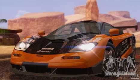 McLaren F1 JGTC Tuning 1995 pour GTA San Andreas laissé vue