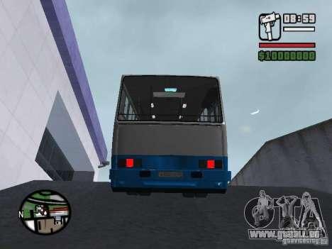 Ikarus 260 Sicherheits für GTA San Andreas Innenansicht