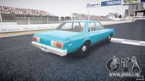 Dodge Aspen v1.1 1979 yellow rear turn signals pour GTA 4 est un côté