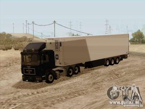 MAN F2000 6x4 pour GTA San Andreas sur la vue arrière gauche