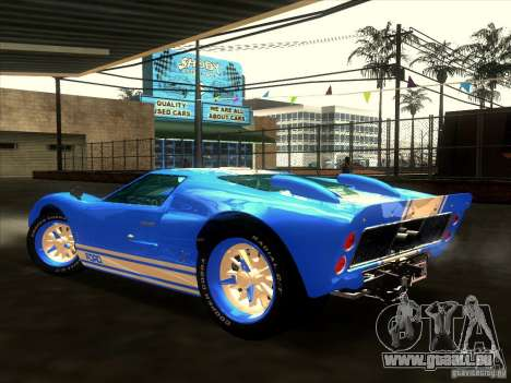 Ford GT40 1966 pour GTA San Andreas salon
