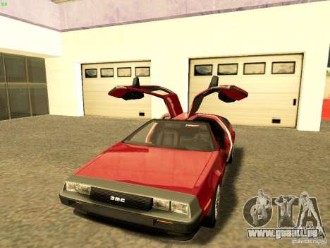DeLorean DMC-12 V8 pour GTA San Andreas vue de droite