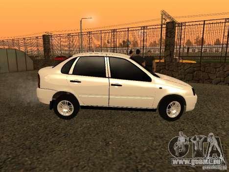 VAZ 1118 pour GTA San Andreas laissé vue