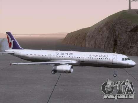Airbus A321 Air Macau für GTA San Andreas obere Ansicht