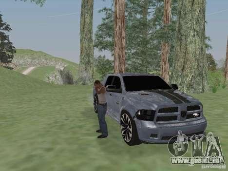 Dodge Ram R/T 2011 pour GTA San Andreas sur la vue arrière gauche