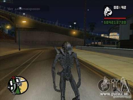 Alien Xenomorph pour GTA San Andreas cinquième écran