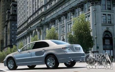 Acura RL 2006 für GTA 4 hinten links Ansicht