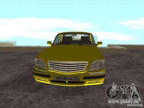 GAZ 31105 pour GTA San Andreas laissé vue
