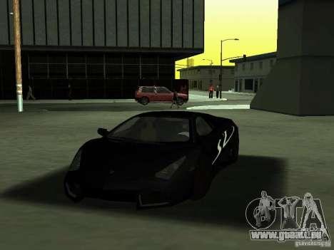 Lamborghini Reventon pour GTA San Andreas vue de dessus