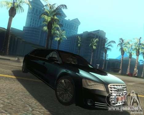 Audi A8 2011 Limo für GTA San Andreas rechten Ansicht