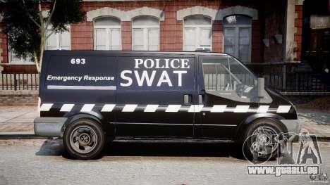 Ford Transit SWAT [ELS] für GTA 4 Rückansicht