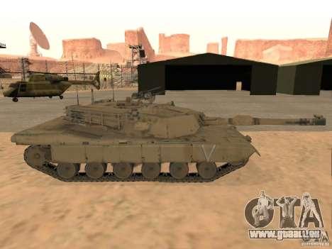 Abrams M1A2 pour GTA San Andreas sur la vue arrière gauche