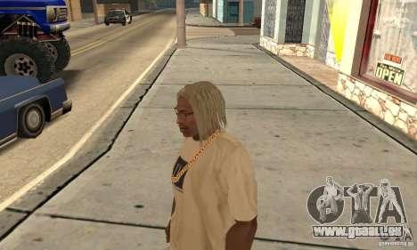 Lange blonde Haare für GTA San Andreas