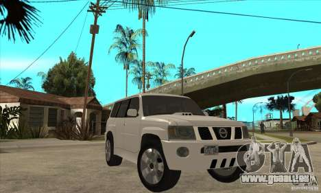 Nissan Patrol 2005 Stock pour GTA San Andreas vue intérieure