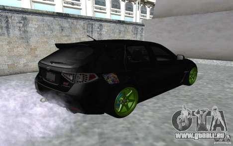 Subaru Impreza pour GTA San Andreas laissé vue