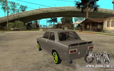 Datsun 510 Drift pour GTA San Andreas sur la vue arrière gauche
