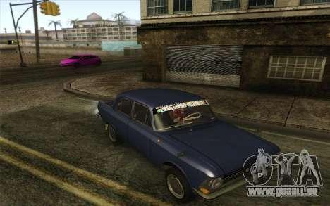 IZH 412 Moskvich pour GTA San Andreas laissé vue