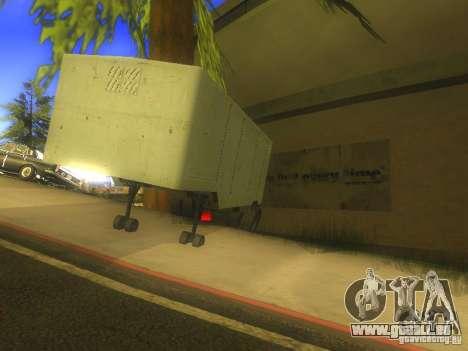 Remorque Odaz 794 pour GTA San Andreas sur la vue arrière gauche