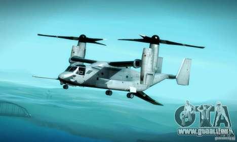MV-22 Osprey für GTA San Andreas Unteransicht