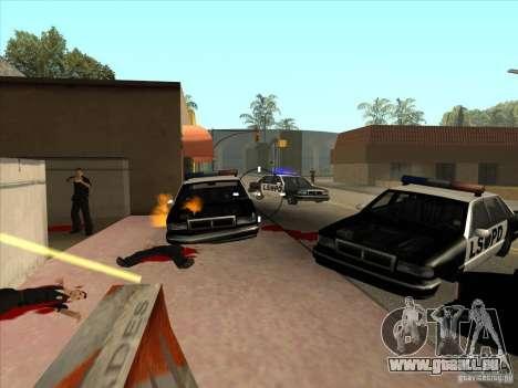 Le script CLEO : mitrailleuse dans GTA San Andre pour GTA San Andreas deuxième écran
