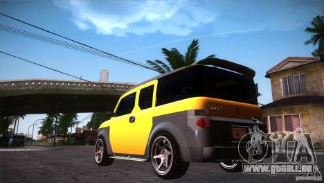 Honda Element LX pour GTA San Andreas sur la vue arrière gauche