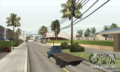 KrAZ-257 für GTA San Andreas zurück linke Ansicht