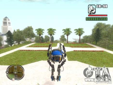 Robot de Portal 2 # 3 pour GTA San Andreas deuxième écran