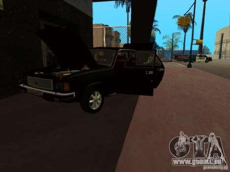 GAZ 3102 für GTA San Andreas Rückansicht