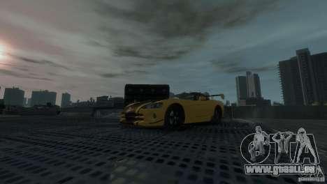 Dodge Viper SRT-10 ACR 2009 pour GTA 4 Vue arrière
