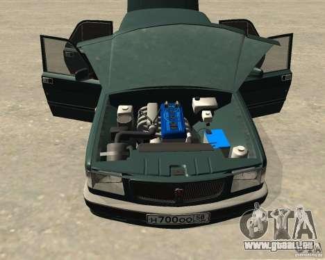 Volga GAZ 3110 pour GTA San Andreas vue arrière