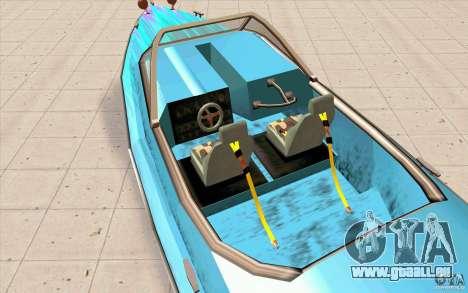 Hot-Boat-Rot für GTA San Andreas Rückansicht
