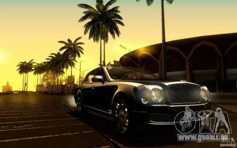 Bentley Mulsanne 2010 v1.0 für GTA San Andreas Innen