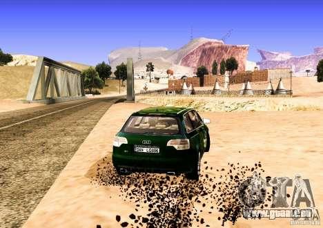 Audi S4 Avant pour GTA San Andreas vue intérieure