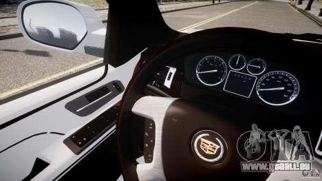 Cadillac Escalade ESV pour GTA 4 est une vue de l'intérieur