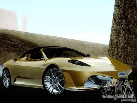 Ferrari F430 Scuderia Spider 16M pour GTA San Andreas vue de dessous