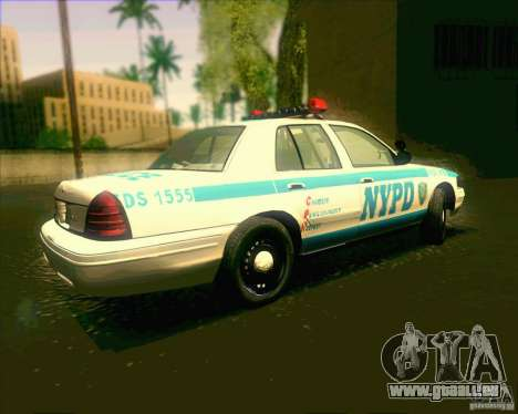 Ford Crown Victoria 2003 NYPD police V2.0 pour GTA San Andreas laissé vue