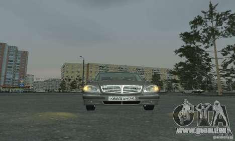 GAZ 3110 pour GTA San Andreas sur la vue arrière gauche