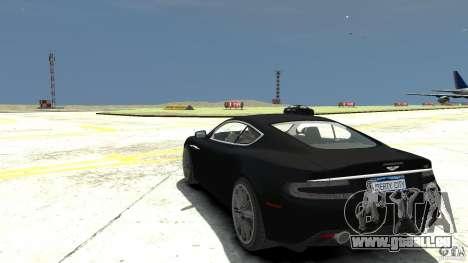 Aston Martin DBS v1.1 sans tonifier pour GTA 4 Vue arrière de la gauche
