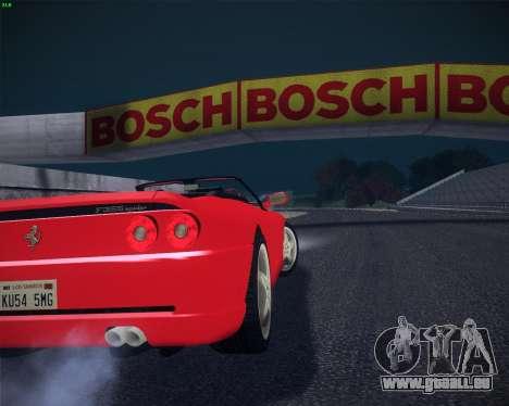 Ferrari F355 Spyder pour GTA San Andreas laissé vue