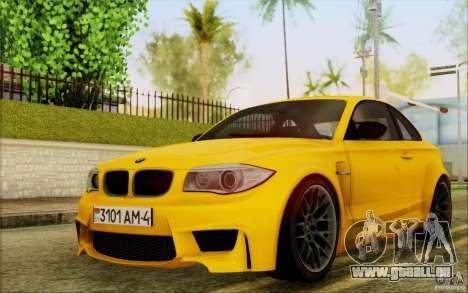 BMW 1M Coupe pour GTA San Andreas laissé vue