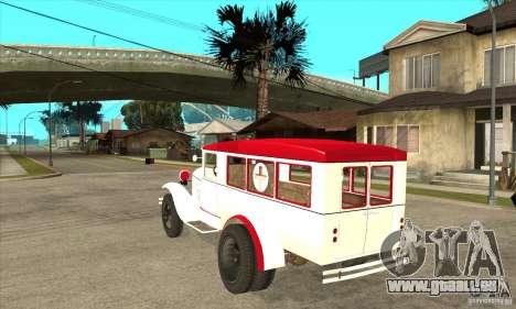 GAZ-AA Krankenwagen für GTA San Andreas zurück linke Ansicht