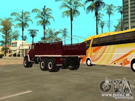 KrAZ 260 pour GTA San Andreas vue intérieure